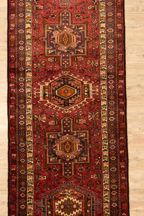 Hand Knotted Persian Karajeh Rug, Traditional Hallway Runner Rug, size 3.7x13, main image