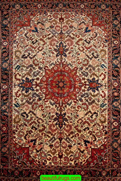 Handmade Persian Heriz Rug, Old Persian Heriz, A Traditional Style Rug, size 8.7x11.4, main image