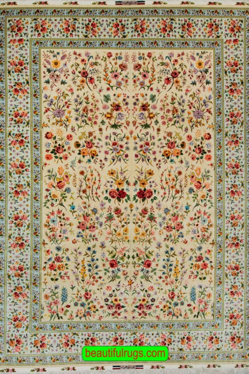 Handmade Persian Tabriz rug, Beauty of Persia, Very Fine kurk & Silk on Silk Foundation, size 9.9x1.36, main image