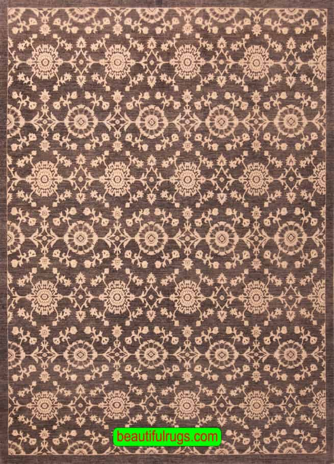 Handmade Oriental Rug, Grey Color Contemporary Style Wool Rug, size 8.9x10.10, main image