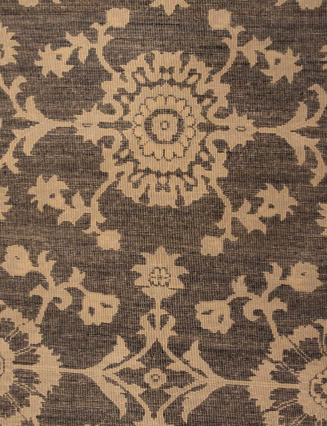 Handmade Oriental Rug, Grey Color Contemporary Style Wool Rug, size 8.9x10.10, backside image