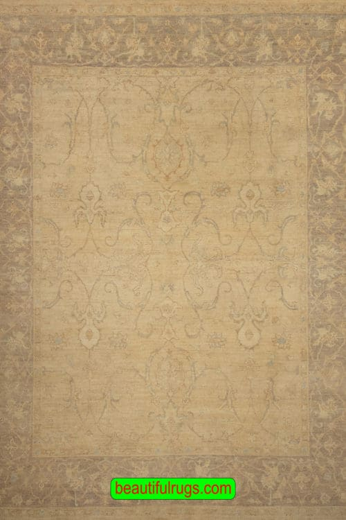 Handmade Oriental Rug, Sultanabad Design Rug, Muted Color Rug, size 8x9.9, main image