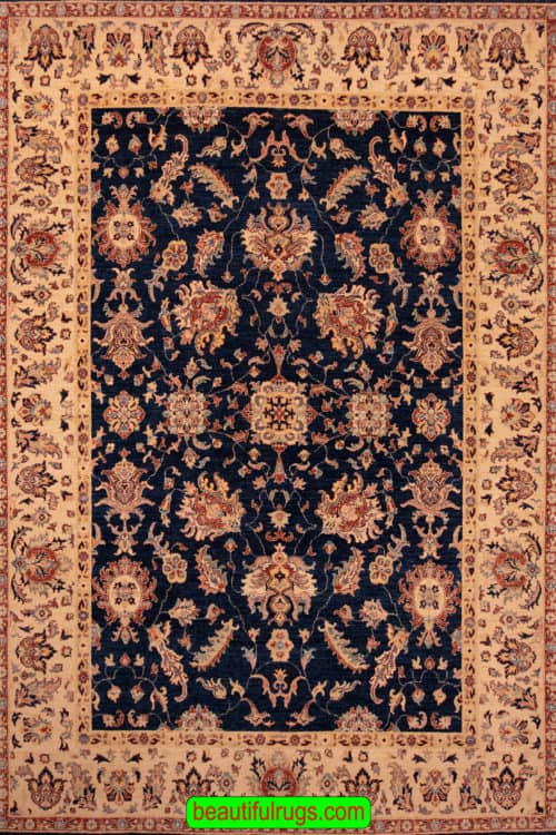 Hand Woven Oriental Rugs, Traditional Style Rug, Navy Blue Rug, size7.11x11.1, main image