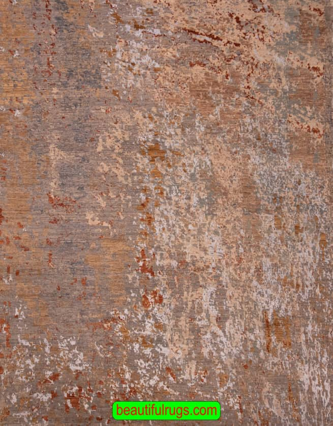8x10 Modern Rug, A Designer Modern Rug With Brown and Earth Tone Colors, size 8.1x10.3, main image