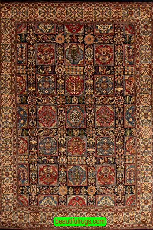 Four Season Design Rug, Hand Woven Persian Sarouk Rug, Old Rug, size 8.5x12, main image