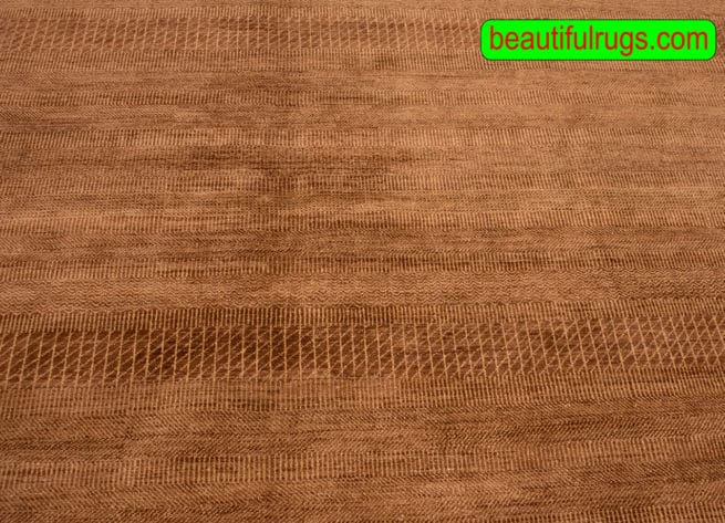 Shop Contemporary Rug, 8x10 Brown Rug, Handmade Contemporary Rug, close up image