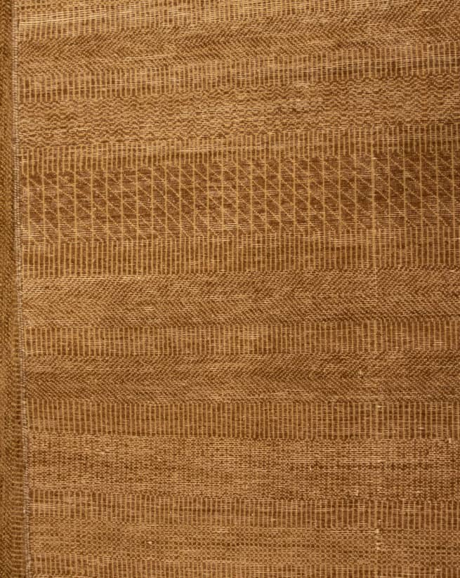 Shop Contemporary Rug, 8x10 Brown Rug, Handmade Contemporary Rug, backside image