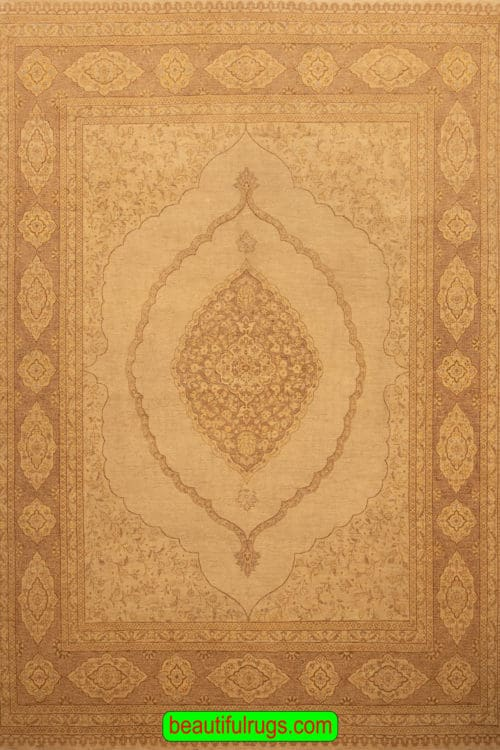 Hand Knotted Oriental Rug, Transitional Ziegler Rug, Earth Tone Color Rug, size 8.2x10.2, main image