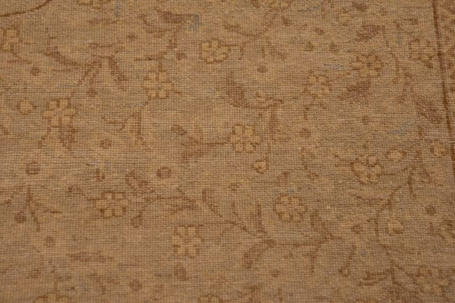 Hand Knotted Oriental Rug, Transitional Ziegler Rug, Earth Tone Color Rug, size 8.2x10.2, backside image
