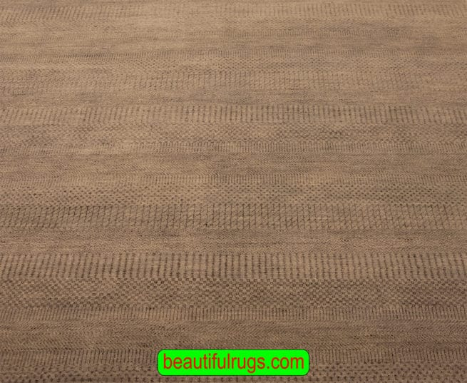 Handmade Rug, Contemporary Rug, Grey Color Rug From India, 6x9 Rug, close up image