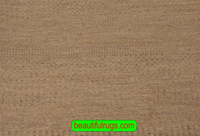 Handmade Rug, Contemporary Rug, Grey Color Rug From India, 6x9 Rug, backside image