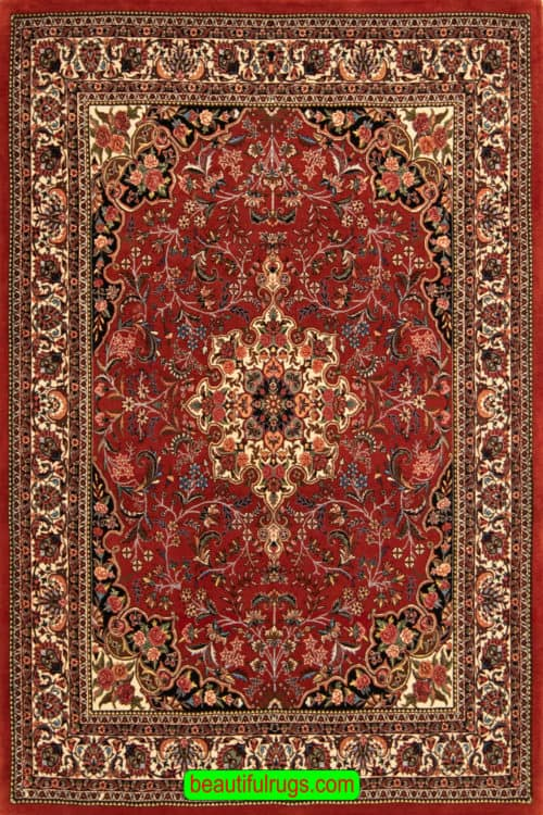 5x7 Rug, Handmade Persian Bijar Rug, Mauve and Rose Color Rug, main image