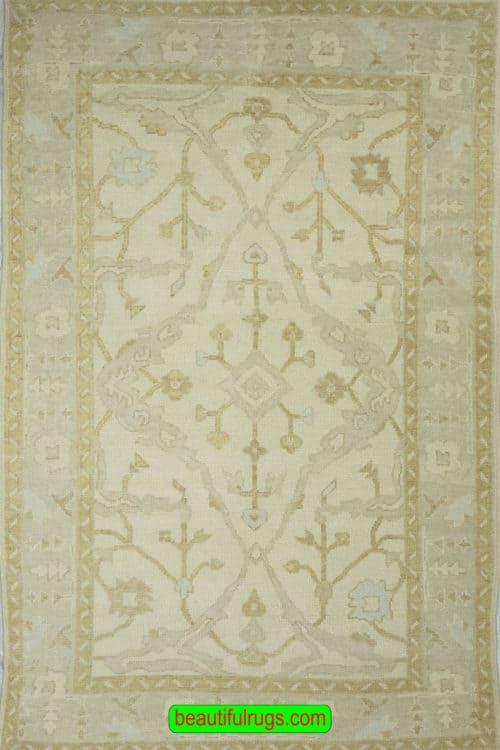 Vintage Oushak Rug, Turkish Rugs, Antique Oushak Rugs for Sale, main image, size 5.5x8.10