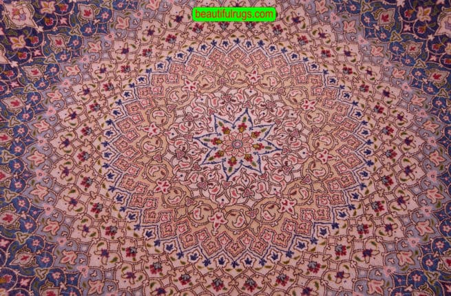 Round Rug | Persian Rugs | Round Oriental Rugs | Beautiful Rugs, backside image, size 6.7x6.7