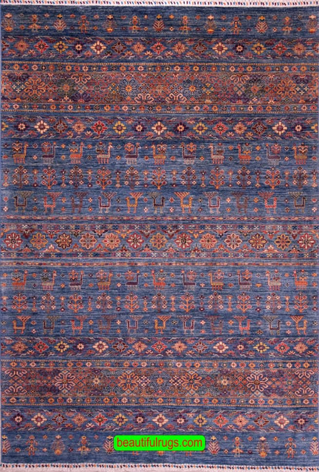 Khotan Rugs | Tribal Rugs | Beautiful Rug | Antique Carpets and Rugs, main image, size 6.8x9.9