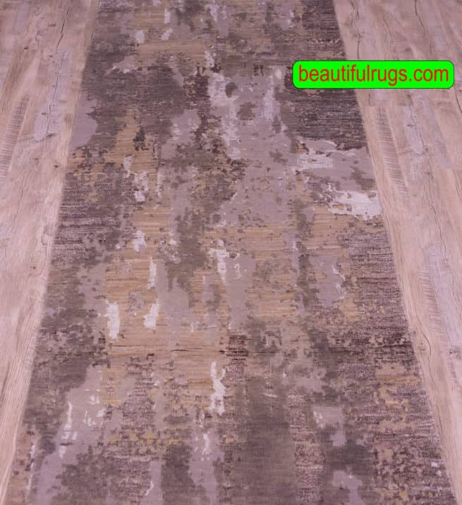 8 Foot Runner, Contemporary Runner Rug, Indian Rugs, close up image, size 2.7 x 8