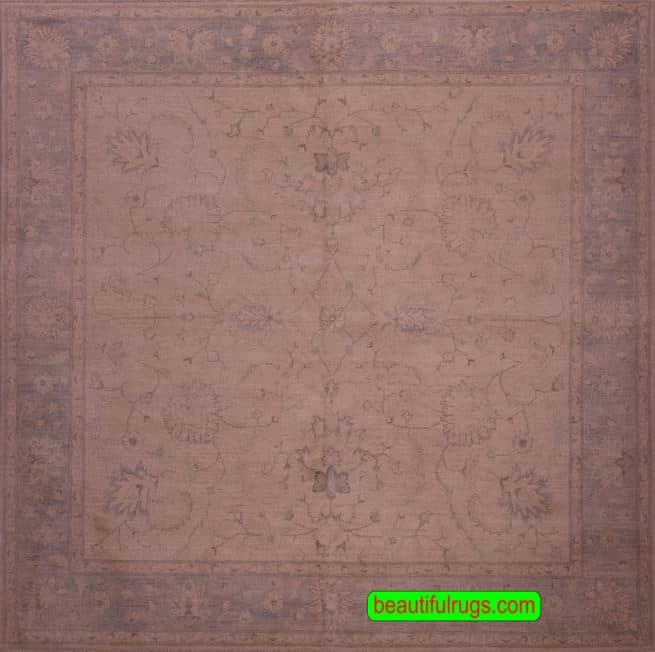 8×8 Rug, Square Rug, Turkish Pattern Rug From Pakistan, close up image, size 7.10 x 8