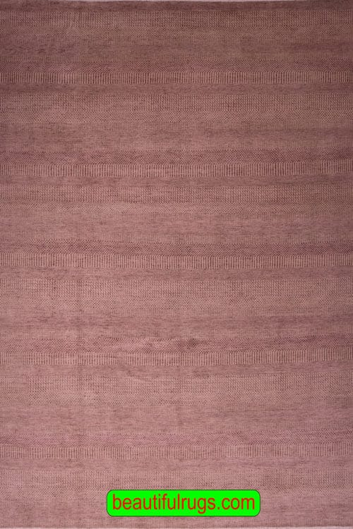 Contemporary Purple and Brown Color Rug with Stripes, main image, size 8.10x12.4