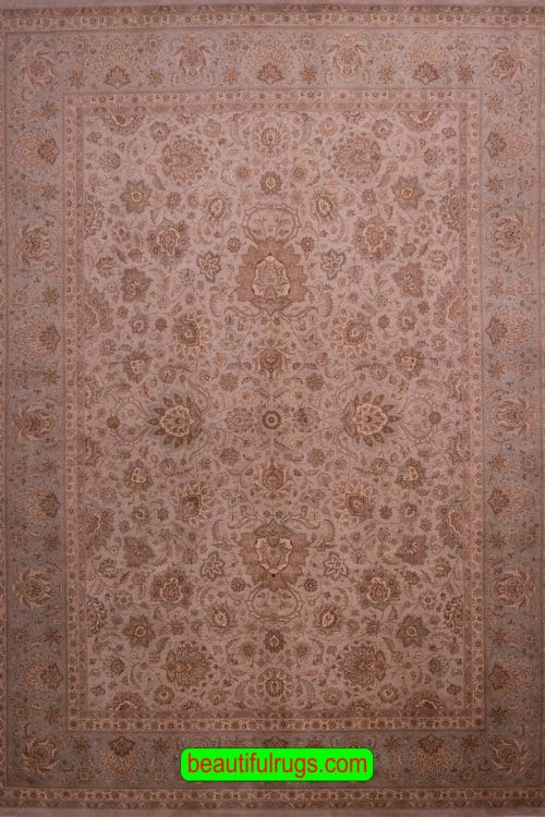 Transitional Rug, Pastel and Green Color Rug, main image. size 9.2x12.5
