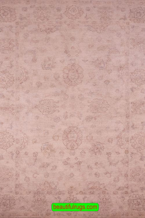 Ziegler Style Rug, Muted Color Transitional Wool Rug, size 6x9, main image